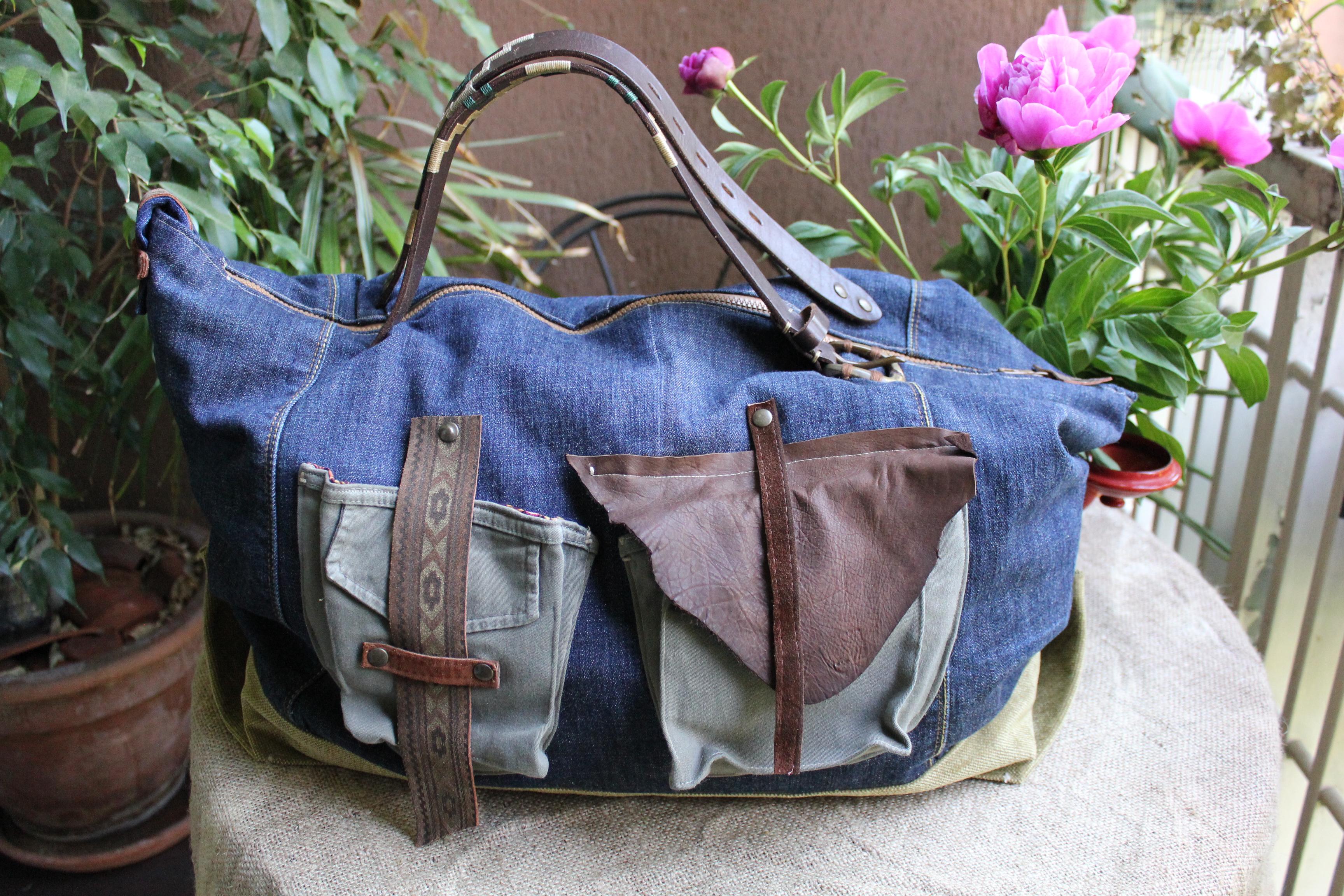 aspetto dettagliato deeee cf736 borsa-viaggio-jeans   TEKOA MILANO