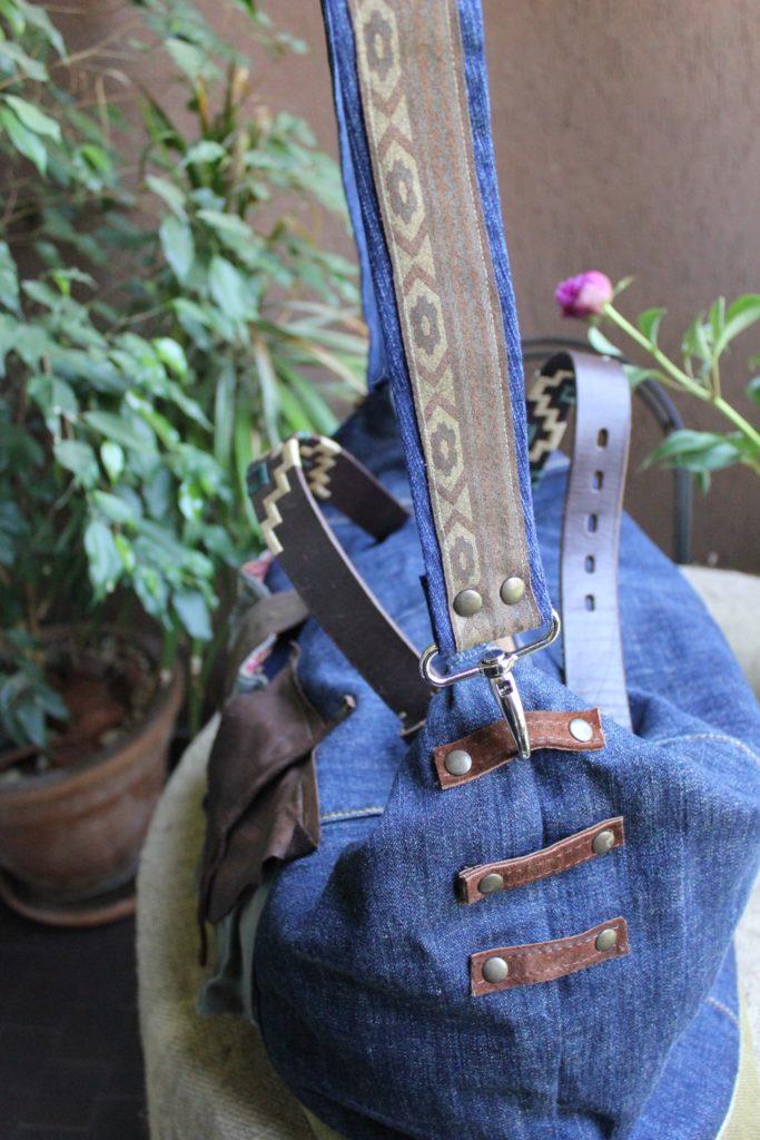 Borsa di jeans riciclato