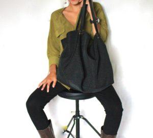 borsa di stoffa fatta a mano